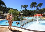 Camping avec Piscine couverte / chauffée Gastes - Camping Plage sud -1