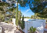 Location vacances Sant Josep de sa Talaia - Villa Can Hermanos: Wifi gratis, piscina privada y vistas al mar-4