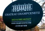 Hôtel Créon - Chateau Champcenetz-2