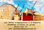 Hôtel Saint-Bonnet-le-Froid - Les Rêves d'Églantine et d'Augusta Chambres et Gîtes-2