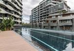 Location vacances Kew - Luxurious Riverside Resort Style Apartment☆Pool☆Spa☆Gym☆Rooftop With City Views-3