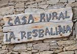 Location vacances Fermoselle - La Resbalina Casa Rural-3