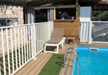 Location vacances Olmeto - Chalet d'une chambre a Olmeto avec magnifique vue sur la mer piscine privee jardin amenage-2