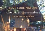 Camping avec Hébergements insolites Drôme - Hôtel de Plein Air Suze Luxe Nature-1