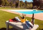 Location vacances Castellolí - Villa with 3 bedrooms in Monistrol de Montserrat with wonderful mountain view private pool furnished terrace-2