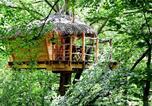 Camping Les Grandes-Ventes - Cabanes de Fontaine-Châtel-1