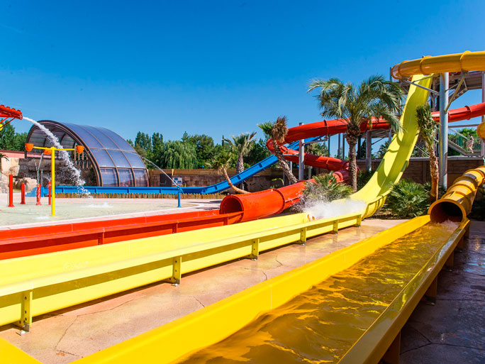 The water slides of campsite La Sirène